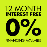 12 Months No Interest 0% Financing